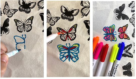 Как раскрасить одежду