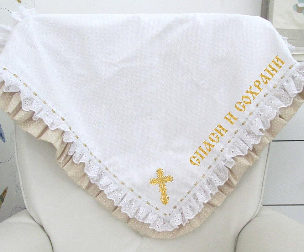 украшение на крестильный набор