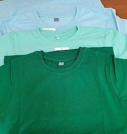 большой выбор цветов футболок