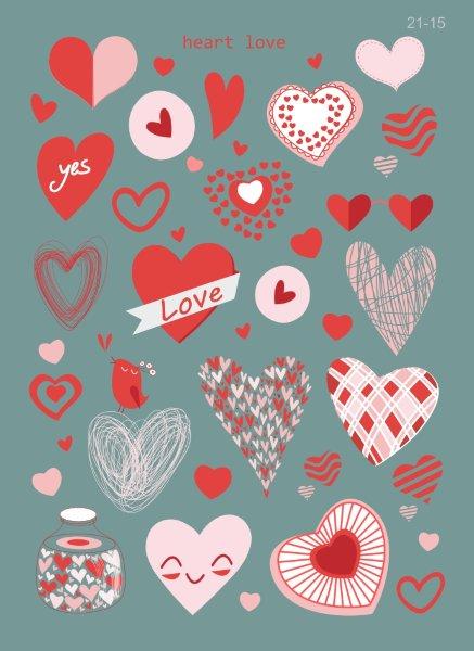 15 сердечек крючки для брюк и юбок