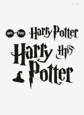 02-85 Термотрансфер Набор Harry Potter (черный) 20х18см